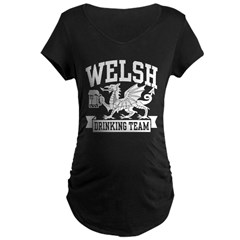 Welsh Drinking Team Maternity Dark T-Shirt