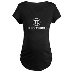 I'm Irrational PI Maternity Dark T-Shirt