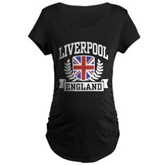 Liverpool England Maternity Dark T-Shirt