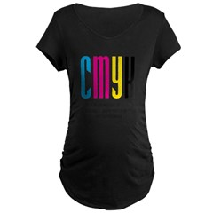 cmyk design thing Maternity Dark T-Shirt