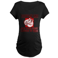 BOXING GLOVES Maternity Dark T-Shirt