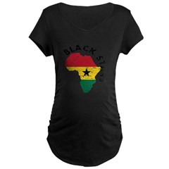 Ghana Black stars Maternity Dark T-Shirt