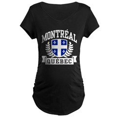 Montreal Quebec Maternity Dark T-Shirt