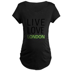 Live Love London Maternity Dark T-Shirt