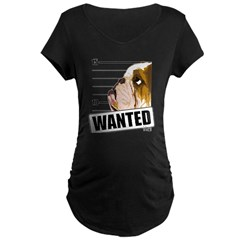 Bulldog Wanted Maternity Dark T-Shirt