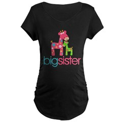 funky giraffe sister no name Maternity Dark T-Shirt