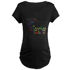 teacher Maternity Dark T-Shirt