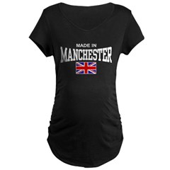 Made In Manchester Maternity Dark T-Shirt