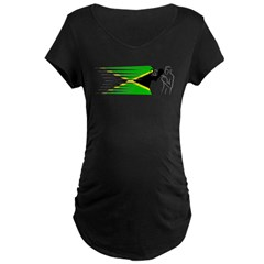 Boxing - Jamaica Maternity Dark T-Shirt