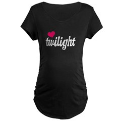 Team Edward Maternity Dark T-Shirt