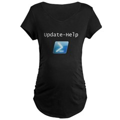 Update-Help Women's Maternity Dark T-Shirt