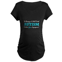 Raising A Child With Autism Maternity Dark T-Shirt