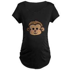 Monkey Face Maternity Dark T-Shirt