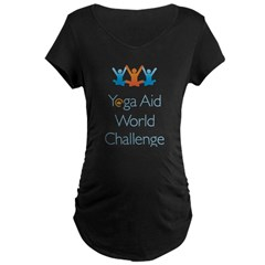 Yoga Aid World Challenge MILFORD Maternity Dark T-Shirt