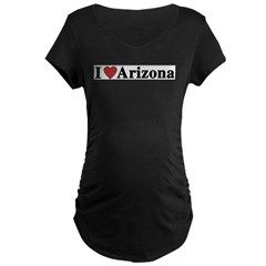 I Love Arizona Maternity Dark T-Shirt