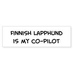 Co-pilot: Finnish Lapphund Sticker (Bumper 50 pk)