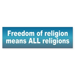 freedom religion... Sticker (Bumper 50 pk)
