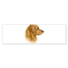 Golden Retriever Portrait Oval Sticker (Bumper 50 pk)