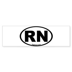 Registered Nurse Oval Sticker (Bumper 50 pk)