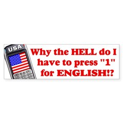 "Press ""1"" for English? Sticker (Bumper 50 pk)"