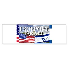 I Support Israel Rectangle Sticker (Bumper 50 pk)