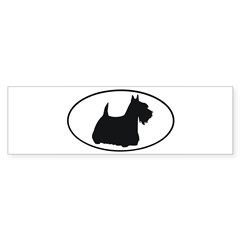 Scottish Terrier Oval Sticker (Bumper 50 pk)