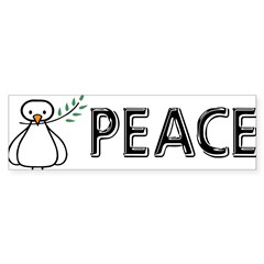 White Dove Peace Sticker (Bumper 50 pk)