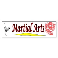 Tiger Martial Arts Sticker (Bumper 50 pk)