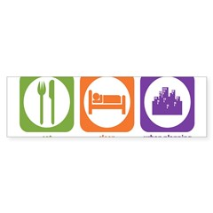 Eat Sleep Urban Rectangle Sticker (Bumper 50 pk)