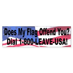 Does My Flag Offend You Sticker (Bumper 50 pk)