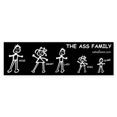 The Ass Family Sticker (Bumper 50 pk)
