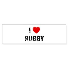 I * Rugby Rectangle Sticker (Bumper 50 pk)