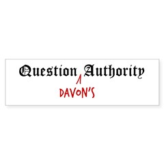 Question Davon Authority Sticker (Bumper 50 pk)