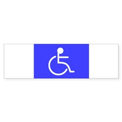"""Disabled"" Rectangle Sticker (Bumper 50 pk)"