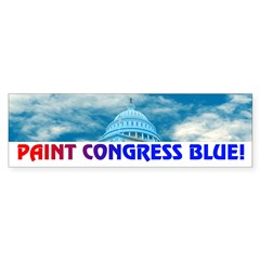 PAINT CONGRESS BLUE! Sticker (Bumper 50 pk)