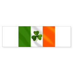 Irish Shamrock Flag Sticker (Bumper 50 pk)