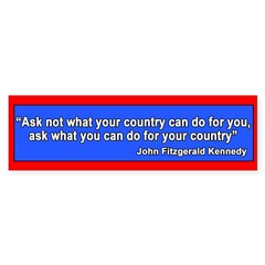 JFK Inaugural Quote Sticker (Bumper 50 pk)