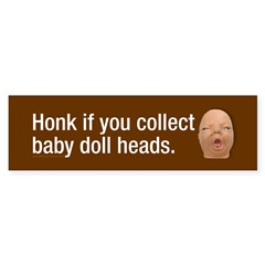 Collect baby doll heads Sticker (Bumper 50 pk)