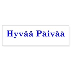 Hyvää Päivää Rectangle Sticker (Bumper 50 pk)