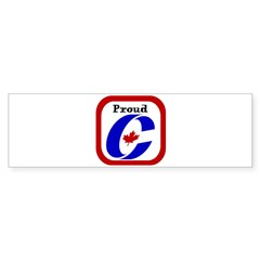 Proud Canadian Conservative Rectangle Sticker (Bumper 50 pk)