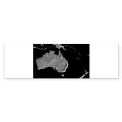 Australia Relief Map Rectangle Sticker (Bumper 50 pk)