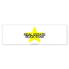 Real Estate Rock Star Oval Sticker (Bumper 50 pk)
