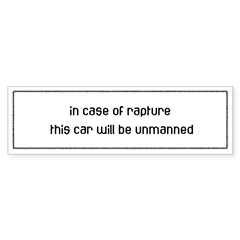 In Case of Rapture Sticker (Bumper 50 pk)