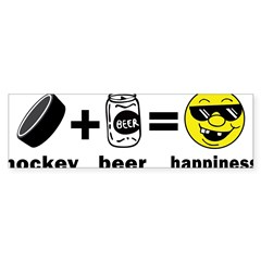 Funny Hockey Rectangle Sticker (Bumper 50 pk)