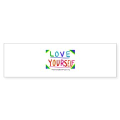 """Love Yourself"" Oval Sticker (Bumper 50 pk)"
