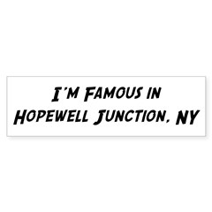 Famous in Hopewell Sticker (Bumper 50 pk)