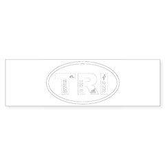 Triathlon Oval Sticker (Bumper 50 pk)
