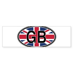 Great Britain Euro Oval Sticker (Bumper 50 pk)