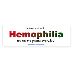 Hemophilia Pride Rectangle Sticker (Bumper 50 pk)
