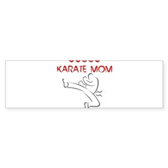 Proud Karate Mom Rectangle Sticker (Bumper 50 pk)